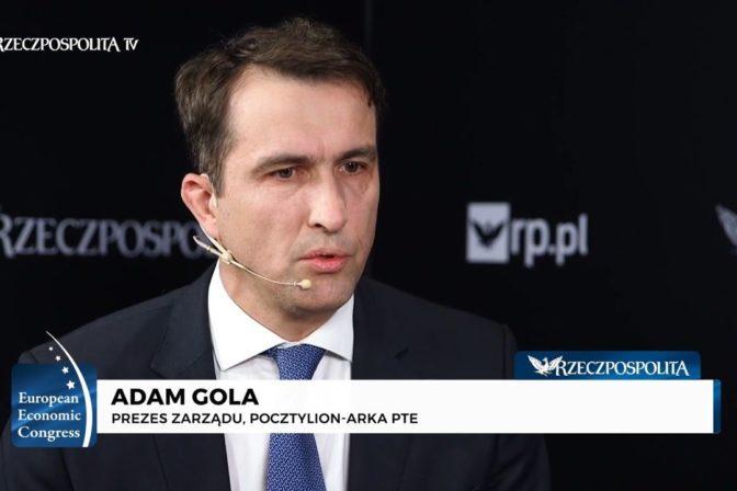 Adam Gola - prezes zarządu Pocztylion-Arka PTE
