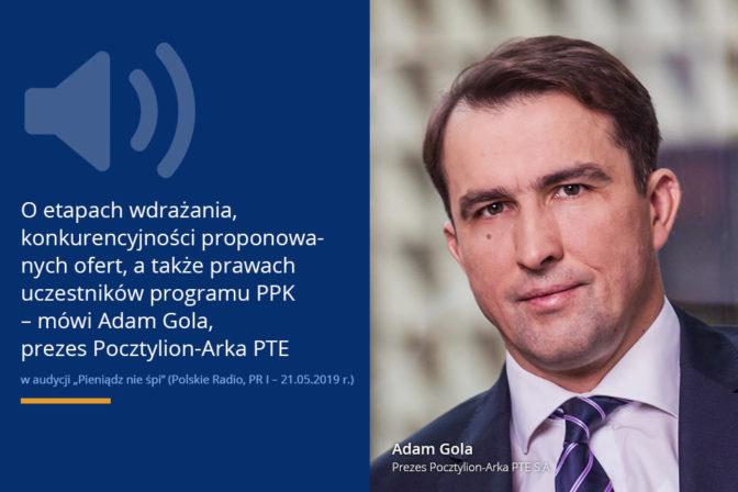 Wywiad z Adamem Golą w Polskim Radiu